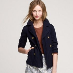 J. CREW Indigo Denim Pea Jacket Coat